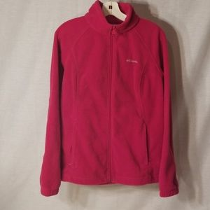 Red wine berry Columbia fleece jacket